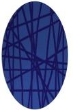 rug #380721   oval blue-violet stripes rug