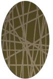 rug #380737 | oval brown stripes rug