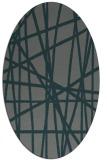 rug #380745   oval green abstract rug
