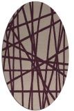 rug #380773   oval pink stripes rug