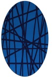 rug #380785 | oval abstract rug