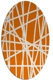rug #380809 | oval orange stripes rug