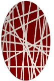 rug #380811 | oval abstract rug