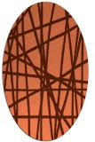 rug #380817   oval red-orange stripes rug