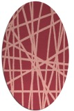 rug #380833 | oval stripes rug