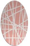 rug #380837 | oval white popular rug