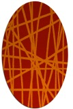 rug #380861 | oval red abstract rug