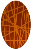 rug #380873 | oval red-orange abstract rug