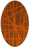 rug #380881 | oval red-orange stripes rug