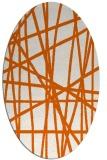 rug #380885 | oval red-orange rug