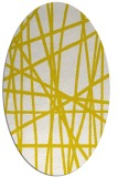 rug #380893 | oval white abstract rug