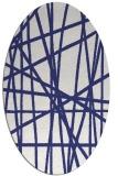 rug #380897   oval white abstract rug