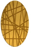 rug #380921 | oval yellow stripes rug