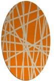 rug #380934 | oval stripes rug