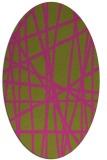 rug #380945 | oval light-green rug