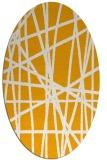 rug #380953   oval light-orange abstract rug