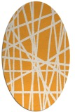 rug #380965 | oval white abstract rug