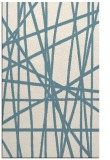 rug #380993    blue-green abstract rug