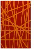 rug #381213 |  orange stripes rug