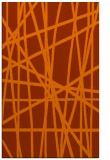 rug #381225    red-orange stripes rug