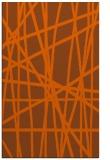 rug #381233 |  red-orange stripes rug