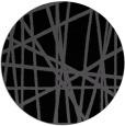 rug #381329 | round black stripes rug