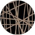 rug #381333 | round black stripes rug