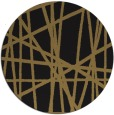 rug #381341 | round brown abstract rug