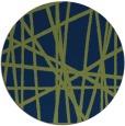 rug #381357 | round blue stripes rug