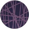 rug #381417 | round purple abstract rug