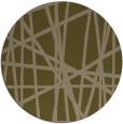 rug #381441 | round brown stripes rug