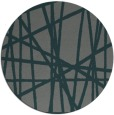 rug #381449 | round green abstract rug
