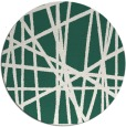 rug #381453 | round green abstract rug
