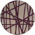 rug #381477 | round pink stripes rug