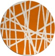 rug #381513 | round orange abstract rug