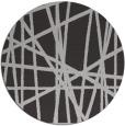 rug #381521 | round orange stripes rug