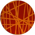 rug #381565 | round red abstract rug