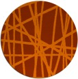 rug #381577 | round red-orange abstract rug