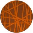 rug #381585   round red-orange stripes rug