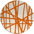 rug #381589 | round red-orange abstract rug