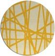 rug #381609 | round yellow stripes rug