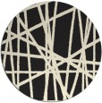 rug #381629 | round black abstract rug
