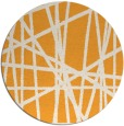 rug #381669 | round light-orange stripes rug