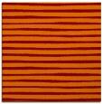 rug #382213 | square orange stripes rug
