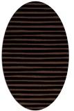rug #382393 | oval black stripes rug