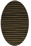 rug #382397 | oval brown stripes rug