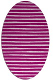 rug #382478 | oval stripes rug