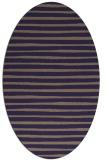 rug #382485 | oval blue-violet stripes rug