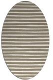 rug #382517 | oval white stripes rug