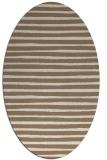rug #382529   oval mid-brown stripes rug